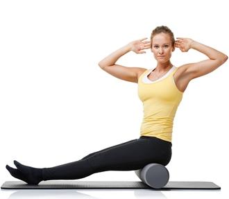 Pilates rulle øvelse